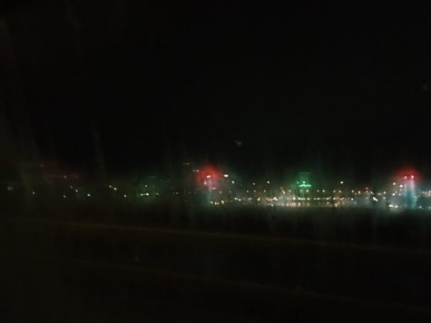 The Portland skyline was covered in red and green lights Dec 4 in celebration of the holiday season.