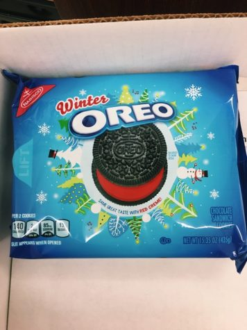 "Buy this! It's regular Oreos, but with ""red creme""!"
